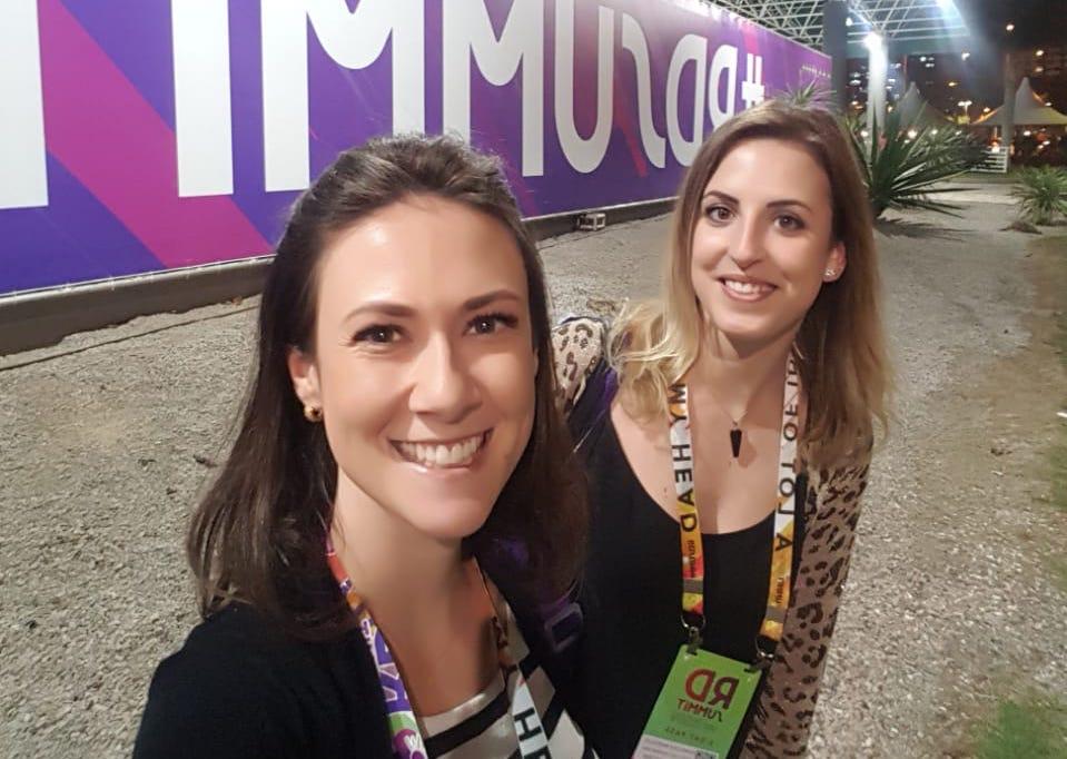 Ândria e Francesca participaram do RD Summit 2019 - Foto: Arquivo BeginMkt