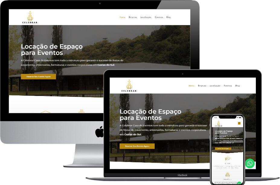 Website Celebrar Casa de Eventos