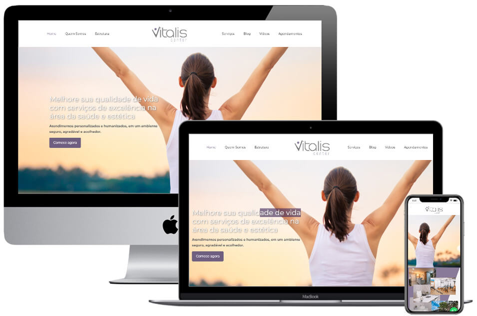 Website responsivo Vitalis Center